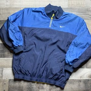 VTG 90'S REVERSIBLE PULLOVER WINDBREAKER SZ XL